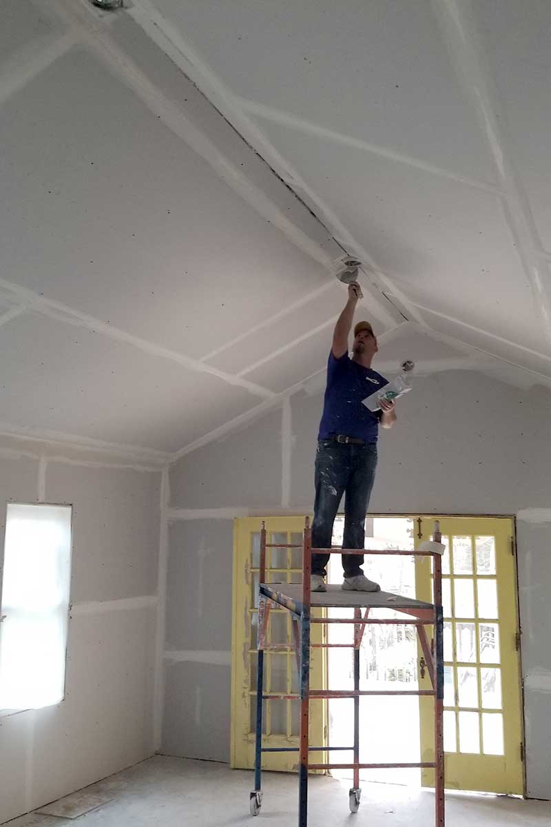Mudding Taping Ceiling Drywall